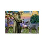 St Francis PS Giant Schnauzer Rectangle Magnet