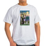 St Francis & Schnauzer (#5) Light T-Shirt