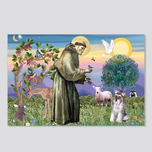 St Francis & Schnauzer (#5) Postcards (Package of