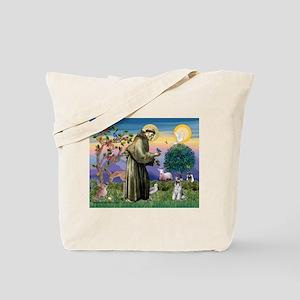 St Francis & Schnauzer (#5) Tote Bag