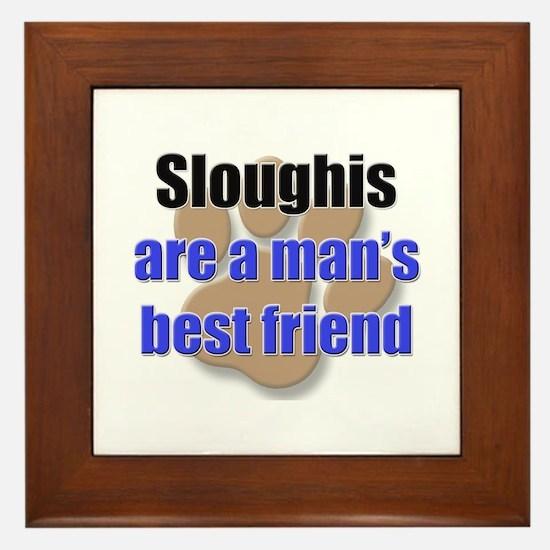 Sloughis man's best friend Framed Tile