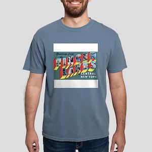 Finger Lakes New York Ash Grey T-Shirt