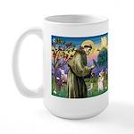 St Francis /Welsh Corgi (p) Large Mug