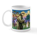 St Francis /Welsh Corgi (p) Mug