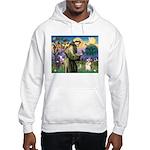 St Francis /Welsh Corgi (p) Hooded Sweatshirt