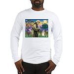 St Francis /Welsh Corgi (p) Long Sleeve T-Shirt