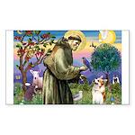 St Francis /Welsh Corgi (p) Rectangle Sticker