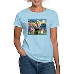 St Francis /Welsh Corgi (p) Women's Light T-Shirt