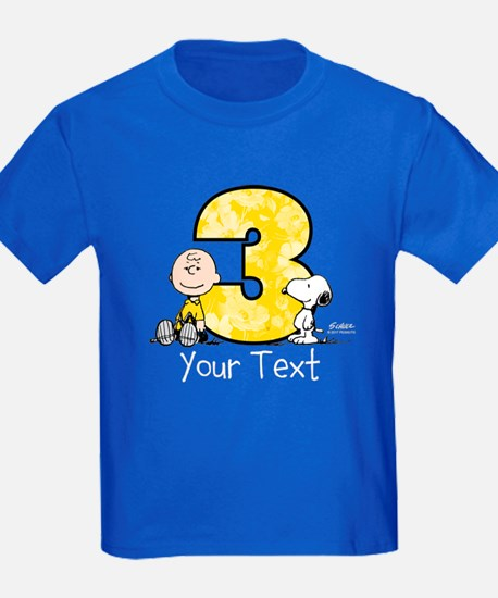 Charlie Brown Snoopy 3-Year-Old T