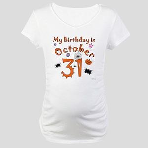 Halloween Birthday Maternity T-Shirt