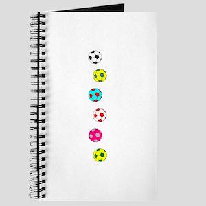 Line of Soccer Balls Journal