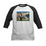 St Francis & Wheaten Kids Baseball Jersey