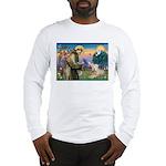 St Francis & Wheaten Long Sleeve T-Shirt