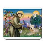 St Francis & Wheaten Mousepad