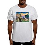 St Francis & Wheaten Terrier Ash Grey T-Shirt