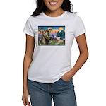 St Francis & Wheaten Terrier Women's T-Shirt