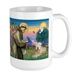St. Francis and Wheaten Terrier Large Mug