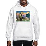 St. Francis & Wheaten Terrier lHooded Sweatshirt