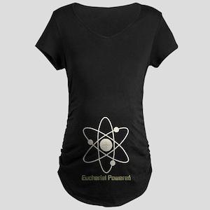 Eucharist Powered Maternity Dark T-Shirt