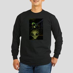 UFO Mothership Long Sleeve Dark T-Shirt