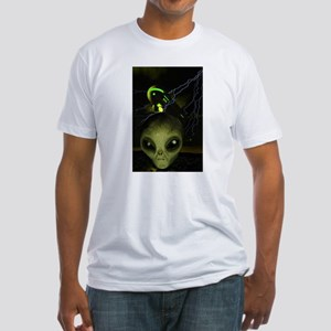UFO Mothership Fitted T-Shirt