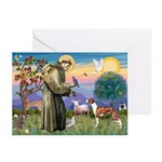 St Francis / Whippet Greeting Cards (Pk of 20)