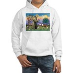 St Francis / Whippet Hooded Sweatshirt
