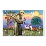 St Francis / Whippet Rectangle Sticker