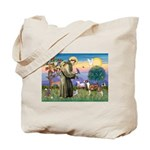 St Francis / Whippet Tote Bag