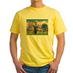 St Francis / Whippet Yellow T-Shirt
