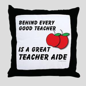 Great Teacher Aide Throw Pillow