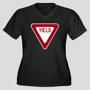 Yield Women's Plus Size V-Neck Dark T-Shirt