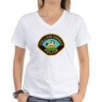 Stallion Springs Police Women's V-Neck T-Shirt