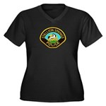 Stallion Springs Police Women's Plus Size V-Neck D