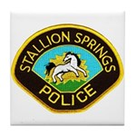 Stallion Springs Police Tile Coaster