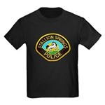 Stallion Springs Police Kids Dark T-Shirt