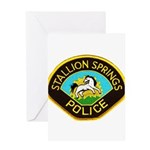 Stallion Springs Police Greeting Card