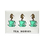 Tea Horses Rectangle Magnet