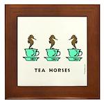 Tea Horses Framed Tile