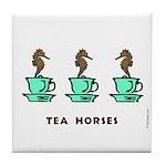Tea Horses Tile Coaster