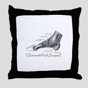 I Survived Foot Surgery! Throw Pillow