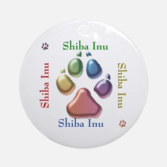 Shiba Name2 Ornament (Round)