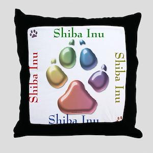 Shiba Name2 Throw Pillow
