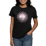 Pink Starburst Yin Yang Women's Dark T-Shirt