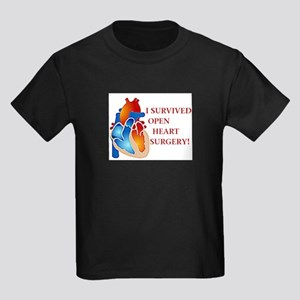 I Survived Heart Surgery! Kids Dark T-Shirt