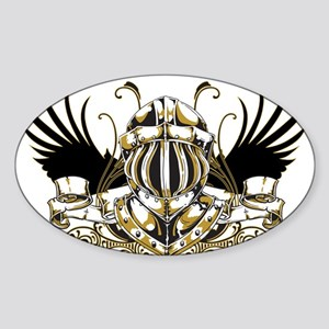 Golden Knight Sticker (Oval)