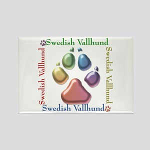 Vallhund Name2 Rectangle Magnet