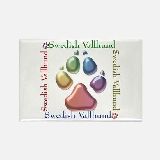 Vallhund Name2 Rectangle Magnet (10 pack)