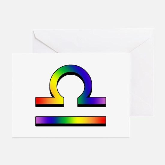 GLBT Libra Greeting Cards (10)