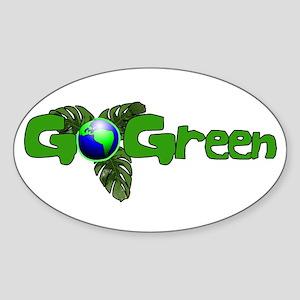 Go Green 2 Oval Sticker